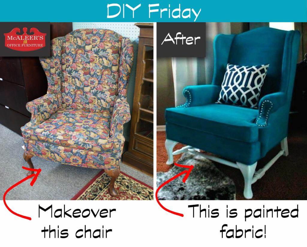 Diy Friday Painted Fabric Mcaleer S Office Furniture