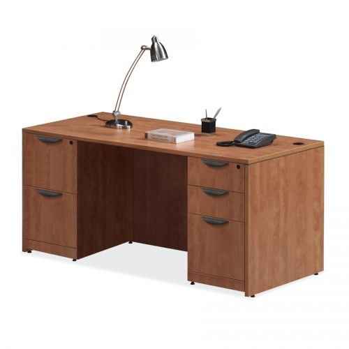 "66"" Laminate Desk with Full Pedestals - 7 Colors!"
