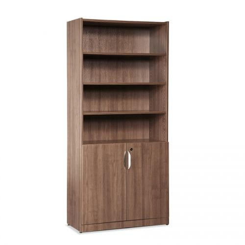"71"" Laminate Bookcase with Doors - 7 Colors!"