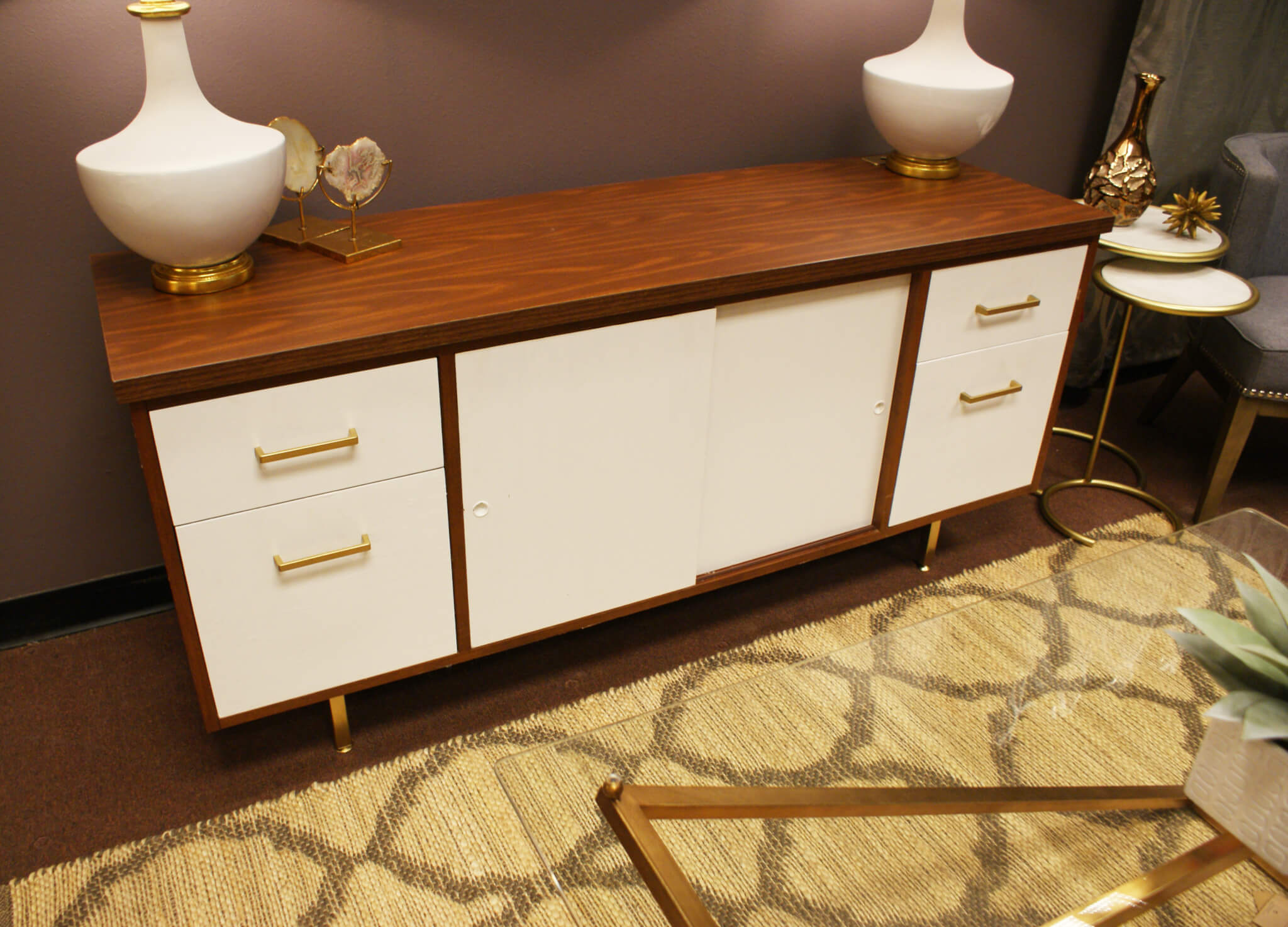 painted furniture makeover gold metallic. It Sticks To All Surfaces And Doesn\u0027t Require Sanding. We Then Purchased Rust-oleum Latex Paint In White Semi-Gloss Metallic Gold Painted Furniture Makeover .