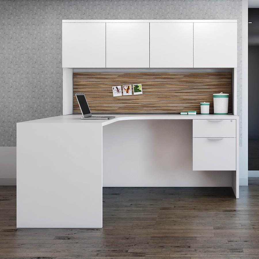 Laminate L Desk by Office Source