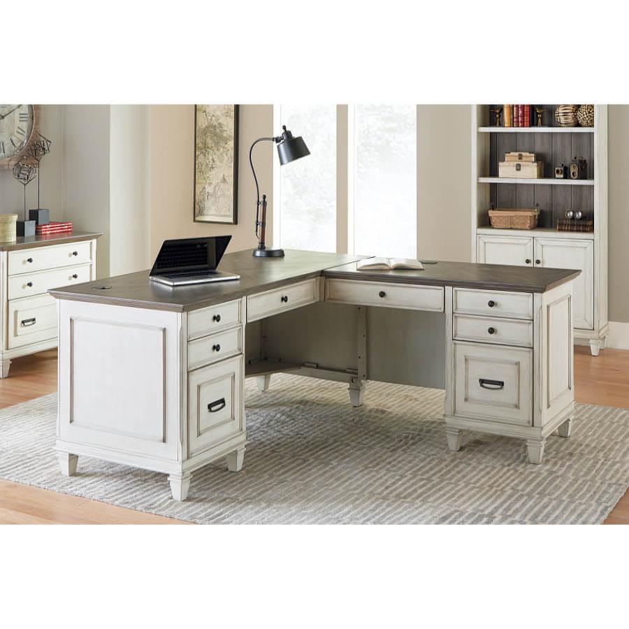 Hartford White Right L Shaped Desk Mcaleer S Office Furniture Mobile Al