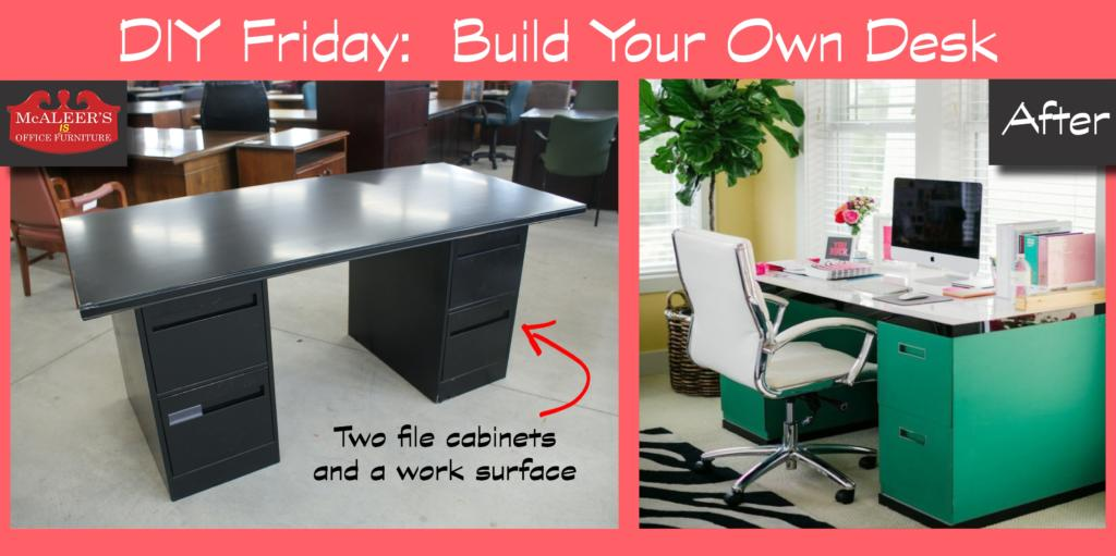 DIY Friday: Build Your Own File Cabinet Desk
